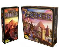 Настольная игра 7 Чудес (7 Wonders) + 7 чудес Города (7 Wonders Cities)