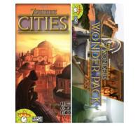 Настольная игра 7 Wonders Cities (7 чудес Города) + 7 wonders: Wonder Pack (7 Чудес Света: набор чудес)