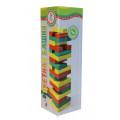 Настольная игра Башня цветная для детей (Башня, Дженга, Jenga)