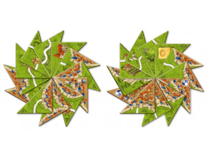 Настольная игра Carcassonne: Halb so wild (Каркассон: Половинки)