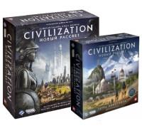 Настольная игра Цивилизация. Новый рассвет + Цивилизация. Терра Инкогнита