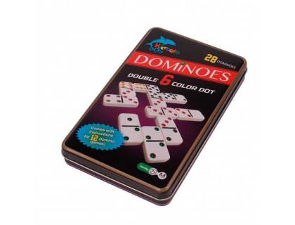 Настольная игра Домино в жестяном боксе (Dominoes)