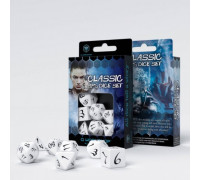 Набор кубиков для RPG Classic dice (Классические: белые/черные)