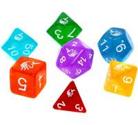 Набор кубиков для RPG Rainbow Unicorn (Радужные единороги)
