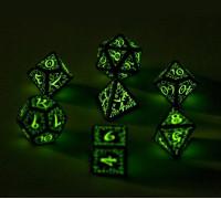 Набор светящихся кубиков для RPG Эльфийский (RPG Elfen Dice)
