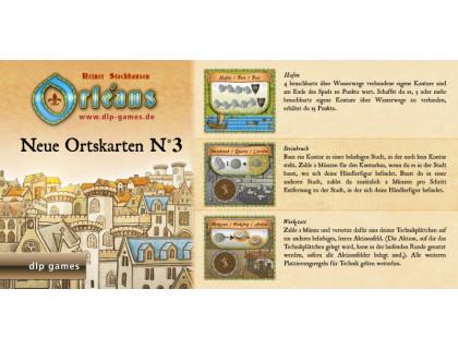 Настольная игра Orleans: Expansion 3 (Orleans: Place Tiles №3, Орлеан: Дополнение 3)