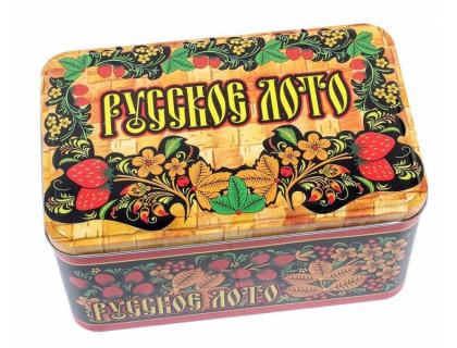 Настольная игра Русское Лото в жестяной коробочке