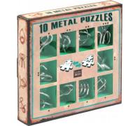 Набор из 10 металлических головоломок зеленый (10 Metal puzzles)