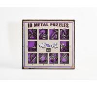 Набор из 10 металлических головоломок фиолетовый (10 Metal puzzles feo)
