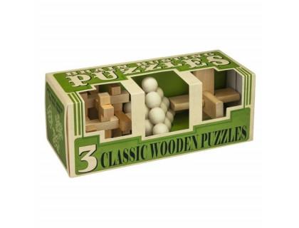 Набор из 3 головоломок Зарядка для мозга (Brainbusting Puzzles 3 x Wood Set)
